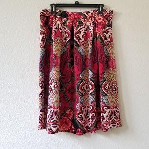 New York & Co. Pleated A-line midi skirt size 12